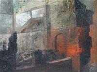 bombed buildings by leonard rosoman