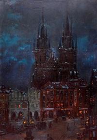 staroměstské náměstí v noci by t. frantisek simon