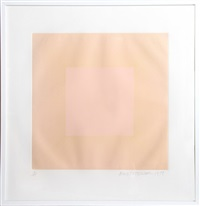 spring suite (peach on peach) by richard anuszkiewicz