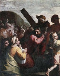 christ on the road to calvary with saint veronica holding the sudarium by simone barabino