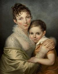 portrait de femme et de son fils by françois joseph navez