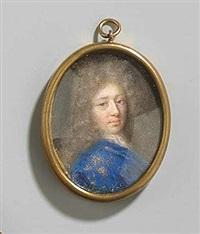 brustbild des phillipe ii herzog von orléans in blauer jacke mit goldstickerei by jacques-antoine arlaud