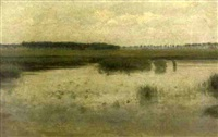 marsh scene by albert jean adolphe