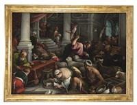 cristo scaccia i mercanti dal tempio by francesco bassano