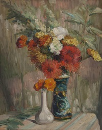 floral still life by leon dabo