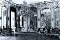 spiegelsaal aus der alten hofburg, wien by josef pögl