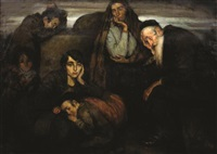 figures in a shtetl by wilhelm wachtel