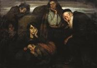 figures in a shtetl by wilhelm wachtel