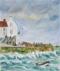 sur le quai en bord de mer by nicole fourcroy