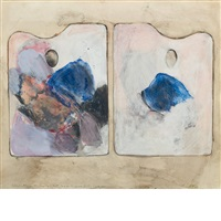 two palettes for the beginning of fall by jim dine