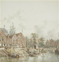 a view in utrecht by jan hendrik verheyen