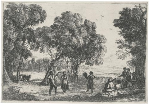 the country dance small plate by claude lorrain