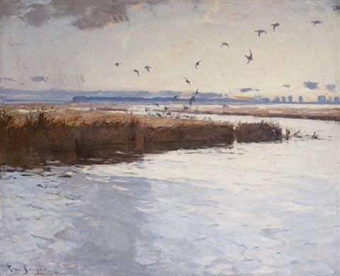 marshes of long point by frank weston benson
