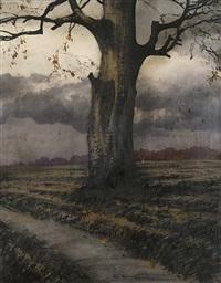 lonely tree by odo (otton) dobrowolski