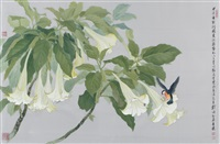 bluebird and devil's trumpets by liu yong