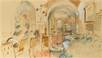 annabel's, study for the founder members by john stanton ward