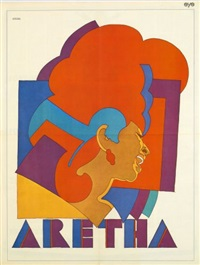 bob dylan (from album greatest hits) (+ aretha franklin (for eye magazine), smllr; 2 works) by milton glaser