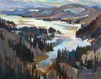 spring ice, fraser bay by brian atyeo
