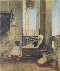study for the interior of a school in cairo by john frederick lewis