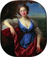portrait de jeune femme en buste by nicolas fouche