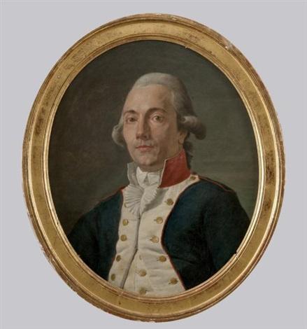 portrait dun officier by nicolas guy brenet
