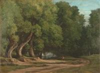 chemin en lisière de forêt by nicolas louis cabat