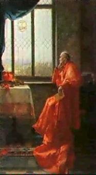 der kardinal am fenster by grete pfaehler