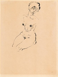 weiblacher akt by george grosz