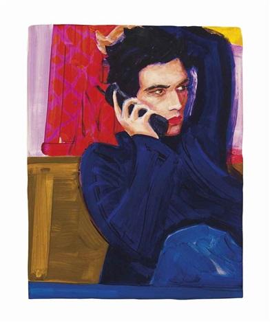 Gavin On The Phone By Elizabeth Peyton On Artnet