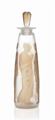 coty 3 ambre antique scent bottle by rené lalique