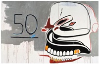 untitled (50 - dentures) by jean-michel basquiat and andy warhol