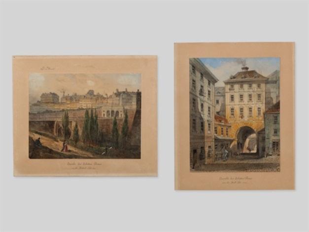 vienna scenes (pair) by johann wilhelm frey