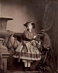 jeune fille au panier de fleurs by antoine-samuel adam-salomon