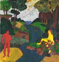 mythological scene by bob thompson