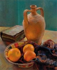stillleben mit drei orangen by fritz rocca-humpoletz