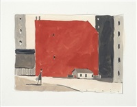 le mur rouge by francois avril