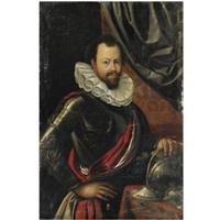 ritratto di gentiluomo con armatura by cesare aretusi