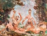 badende im freien by lovis corinth
