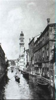 kanal in venedig by c. monegazzi