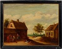 extérieur de taverne by thomas van apshoven
