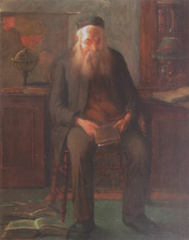rabbin en prière by wilhelm august stryowski
