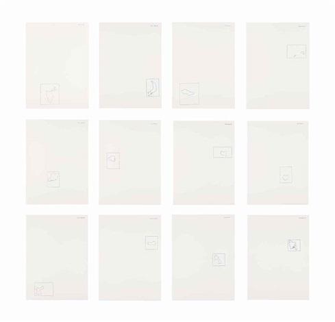 12 forme dal 10 giugno 13 works by alighiero boetti