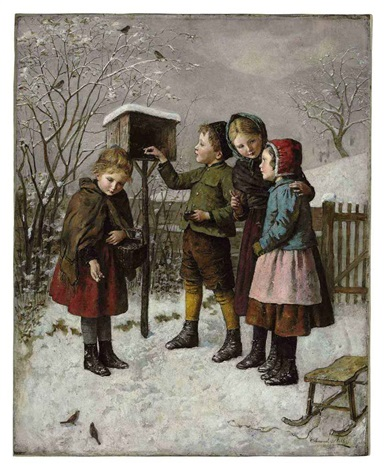 feeding the birds in winter by edmund adler