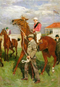 leading out of the paddock by mary cameron
