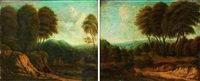 paysages (pair) by cornelis huysmans