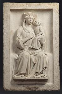 madonna con bambino in trono by andriolo di pagano de santi