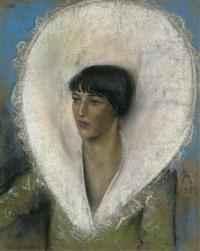 portrait der tänzerin thea von uyy by hugo hesterberg