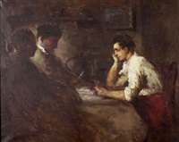 the card players by haralambos potamianos