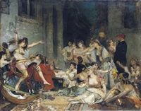 in the harem by fernand cormon