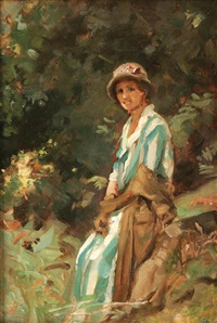 a rest in the woods by p(ercy) harland fisher